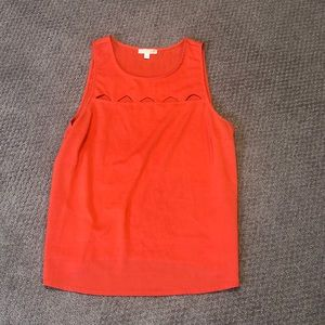 GB Gianni Orange Triangle Bini Cut out Top / Tank